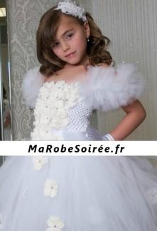 e6e6b780b6d55 Robe de cortège enfant volumineuse violette à fleurs réf  DY-1025
