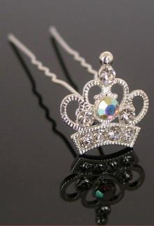 Pic à chignon couronne en strass réf.1309262