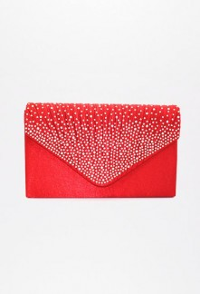 pochette rouge soirée