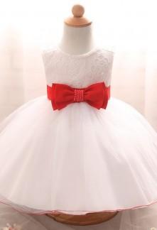 Robe bebe blanche et rouge