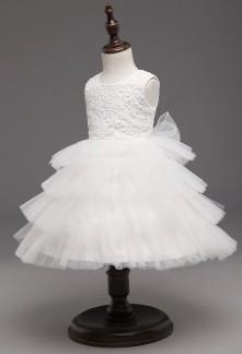 Robe blanc pour cortège enfant au mariage