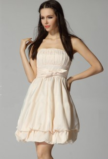 Déstockage - Farrah - robe de cocktail babydoll à plis ballon réf 2211