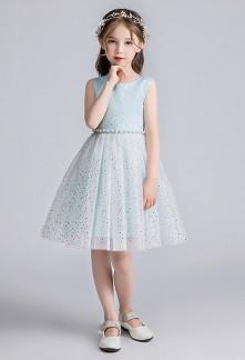 Robe de cortège enfant a paillettes réf: EF505