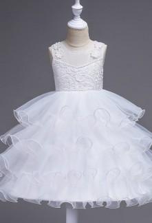 Robe de mariage pour fille sans manches  réf: EF576