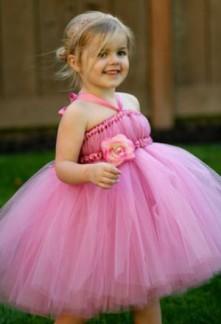 robe de cortège enfant rose