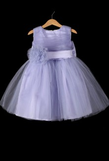 Petite robe cortège en tulle lavande
