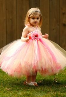 robe de cortège enfant multicolore avec fleur taille