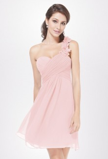 Robe cocktail rose courte