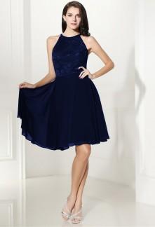 Robe courte soiree bleu