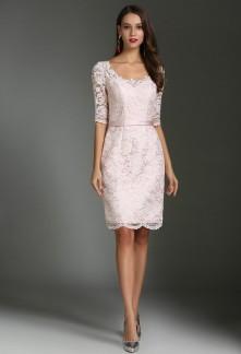 117781bd43c Elégante robe de soirée style fourreau aux manches courtes Réf 1612
