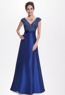 Robe de bal bleu avec le haut en sequins brillants - Réf EP8495