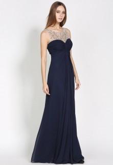 b9904960f54 robe de cérémonie bleu marine élégante réf 5954