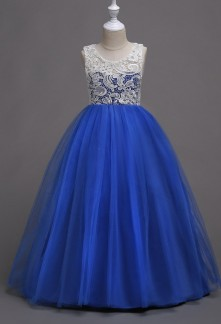 Robe bleu roi fillette