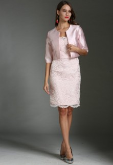 Veste ceremonie femme rose poudre
