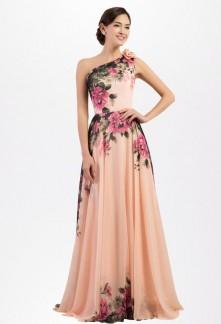 Robe de cérémonie mariage motif floral