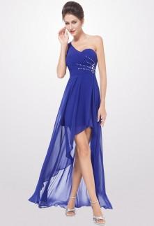 Robe de soiree courte bleu pas cher