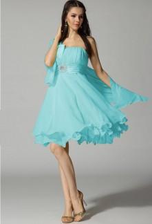 Robe de soiree courte turquoise