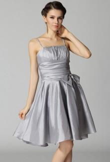 robe de soirée courte bretelles fine spaguetti sur mesure