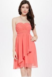 Robes de soir e cocktail de couleur rose bleu pastel for Robe maxi corail pour mariage