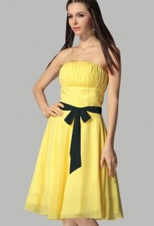 Robe soiree jaune noir