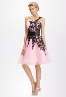 Robe rose pastel et noir