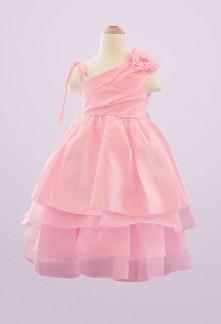 Héloïse - Robe de cortège enfant rose bonbon