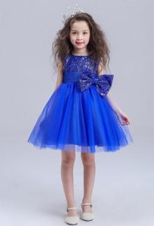 Robe de soirée pour fille bleu roi