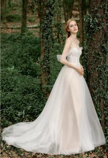 Robe de mariée princesse volants manches