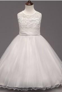 Robe blanche de mariage pour enfant cortège