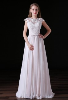 Robe de mariée bretelles larges épaules couvertes