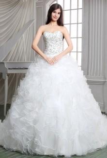 Robe de mariée princesse froufrou réf SQ114 - sur demande