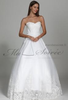 Robe de mariée glamour bustier cœur Réf M1910 - Sur demande