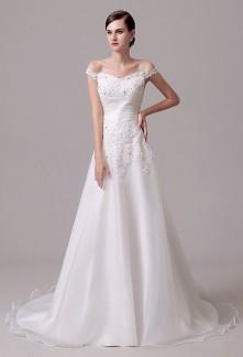 Robe de mariée princesse bretelles tombantes