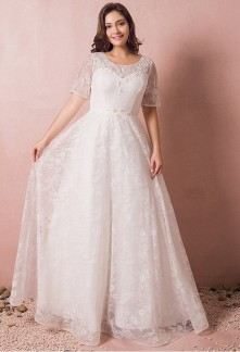 Robe de mariée grande taille dentelle