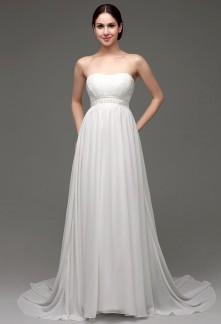 Robe de mariée simple ceinture haute