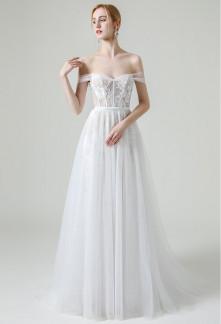Robe de mariée bohème fluide jupe tulle
