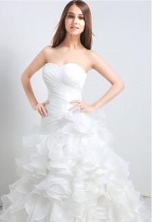 Robe de mariée froufrou sans strass réf SQ110 - sur demande