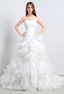 Robe de mariée en organza
