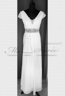 Robe de mariée bohème chic fluide
