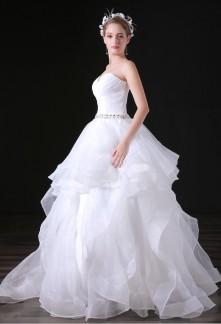 Robe de mariée bustier cœur princesse