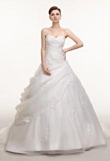 Robe de mariée princesse drapé organza
