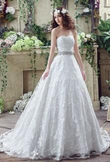 Elegante robe de mariée bustier effet princesse  réf SQ269 - sur demande
