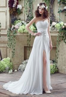 Robe de mariée avec ouverture devant