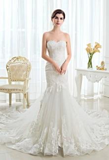 Robe de mariée bustier cœur dentelle