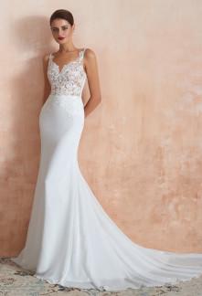 Robe de mariée dentelle sirène chic