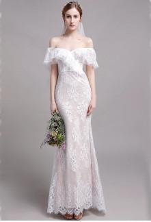 Robe de mariée sirène tout en dentelle