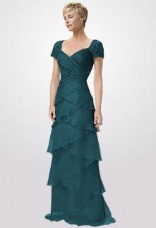 robe de soirée réf 6016 bleu paon