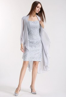 Robe de soirée avec veste assortie