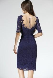 b3f1ec1ea01 Elégante robe de soirée style fourreau aux manches courtes Réf 1612