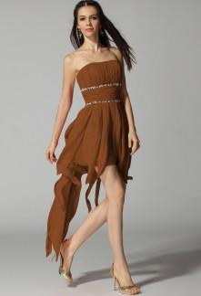 Robe de soiree bustier marron
